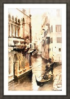 Gondoliers in Venice Vintage Picture Frame print