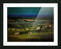 South Downs View Picture Frame print