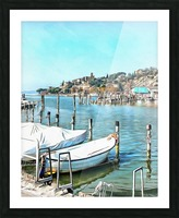 Moored Boats at Passignano Picture Frame print