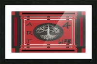 ART 4 LIFE DH MTB TEAM CREST   ECO ARTIST TOMMY BOYD 3 Picture Frame print