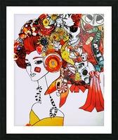 DEADBUG Geisha Picture Frame print