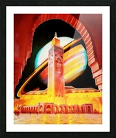 cosmic vacation Picture Frame print