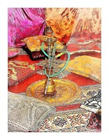 Exotic Oriental Hookah Pipe 2 Picture Frame print