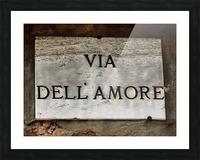Via DellAmore Picture Frame print