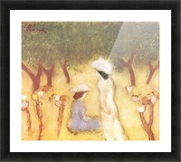 Under the Hollyhocks by Joseph Rippl-Ronai Picture Frame print
