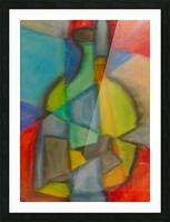 Cubist Bottle Picture Frame print