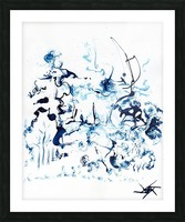 Caribou Crossing Picture Frame print