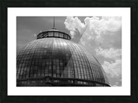Belle Isle Conservatory Dome BW Picture Frame print