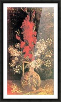 Vase with Gladiolas and Carnations by Van Gogh Picture Frame print