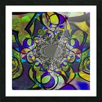Abstract Fractal Picture Frame print