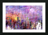 Night City Colors Picture Frame print