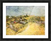 Vegetable Gardens in Montmartre by Van Gogh Picture Frame print