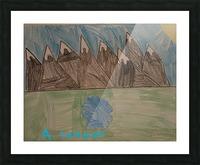 Mountain Peak Picture Frame print