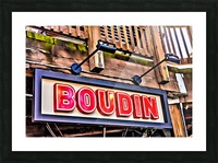 Boudin Bakery Sign Picture Frame print