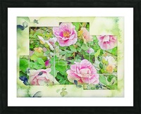 Soft Rose Fragments Picture Frame print