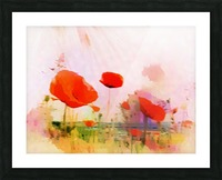 Poppies In Impression Picture Frame print