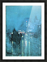 Nocturne, Railway Crossing, Chicago by Hassam Picture Frame print