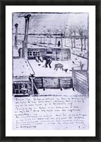 View from the window of the studio by Van Gogh Picture Frame print