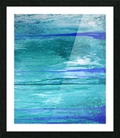 Abstract in Blues and Greens Picture Frame print