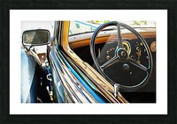 Fiat 508 Balila Through the Window Picture Frame print
