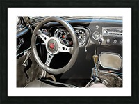 MG B Glance At Interior Picture Frame print