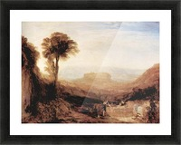 View of Orvieto, painted in Rome by Joseph Mallord Turner Picture Frame print