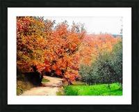 Autumn Golden Colours Umbria Picture Frame print