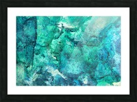 turquoise N°2 Picture Frame print