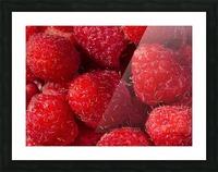 Raspberry leaf Picture Frame print
