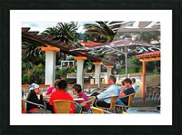 Bar In Funchal Madeira Picture Frame print