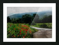 The Poppy Road to Happiness Picture Frame print