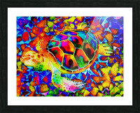 Rainbow Turtle Picture Frame print