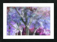 Muted Treetops Picture Frame print