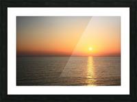 Warm horizon Picture Frame print