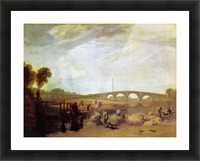 Walten bridges by Joseph Mallord Turner Picture Frame print