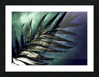 PEARL GLITTER EFFECT LEAVES TROPICAL DESIGN Picture Frame print