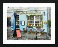 Blue Cafe Copenhagen Picture Frame print