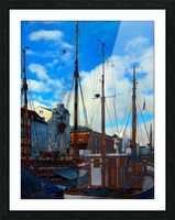 A Study in Masts Picture Frame print