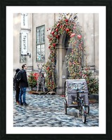 Christmas at a Museum Copenhagen Picture Frame print