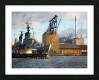 Ships at Holmen Picture Frame print
