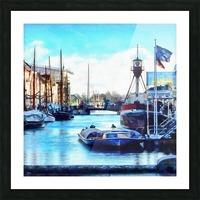 Looking Along Nyhavn Harbour Denmark Picture Frame print