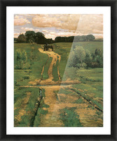 Open land by Hassam Picture Frame print