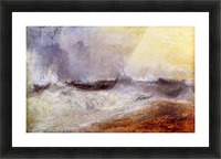 Waves breaking against the wind by Joseph Mallord Turner Picture Frame print
