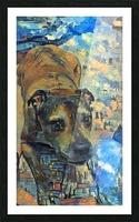 Dog Painting (17) Picture Frame print