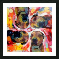 Dog Painting (8) Picture Frame print