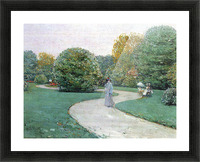 Parc Moneceaux, Paris by Hassam Picture Frame print