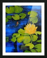 lily pond  Picture Frame print