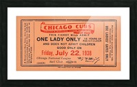 1938 Chicago Cubs World Series Ticket Picture Frame print