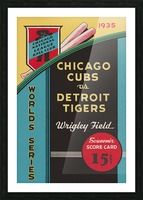 1935 Chicago Cubs World Series Program Cover Picture Frame print