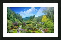 Butchart Gardens Picture Frame print